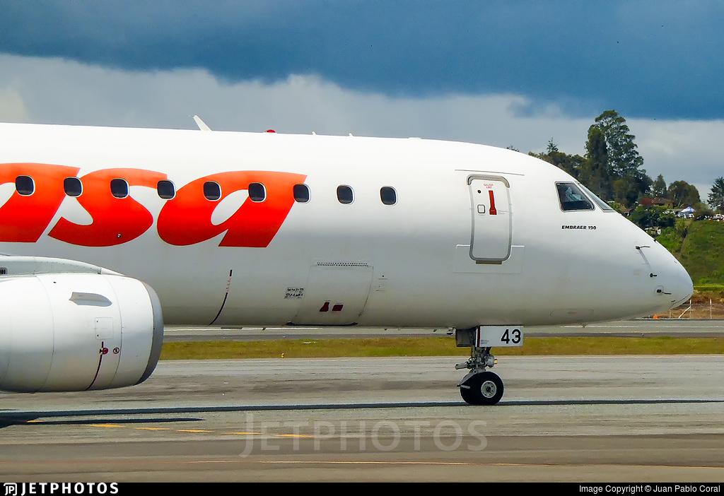 YV2943 - Embraer 190-100IGW - Conviasa