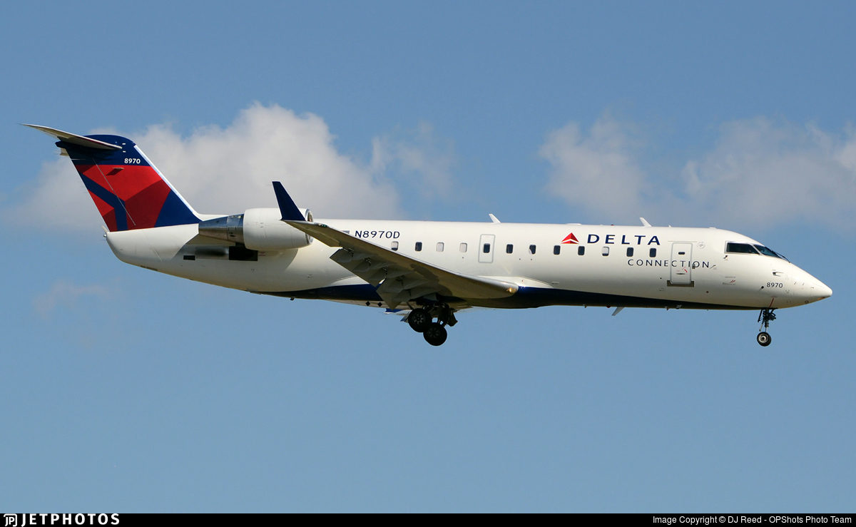 N8970D - Bombardier CRJ-200ER - Delta Connection (Pinnacle Airlines)