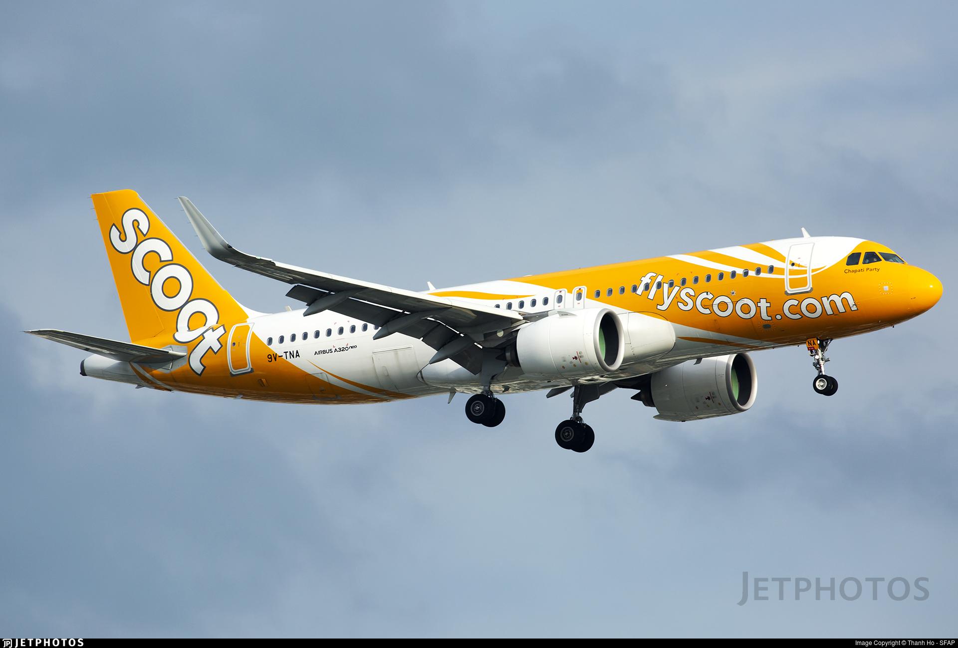 9V-TNA - Airbus A320-271N - Scoot