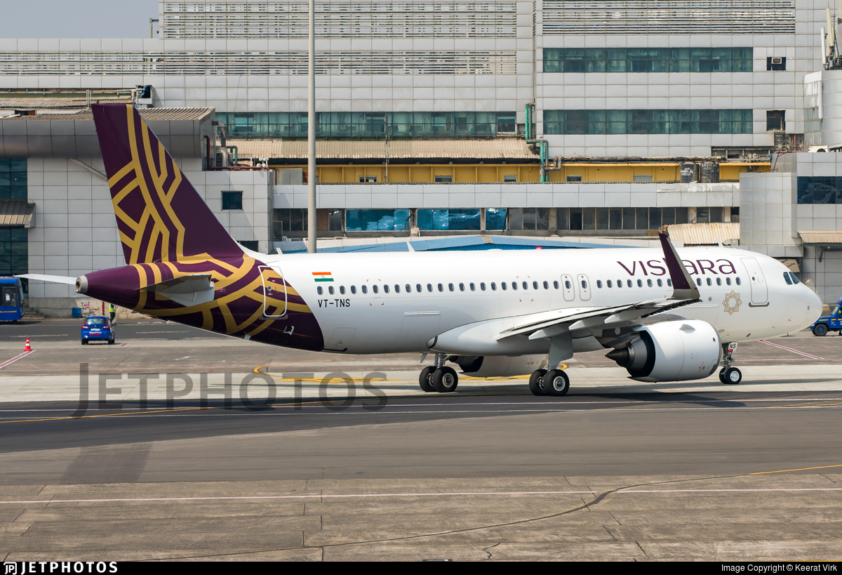 VT-TNS - Airbus A320-251N - Vistara