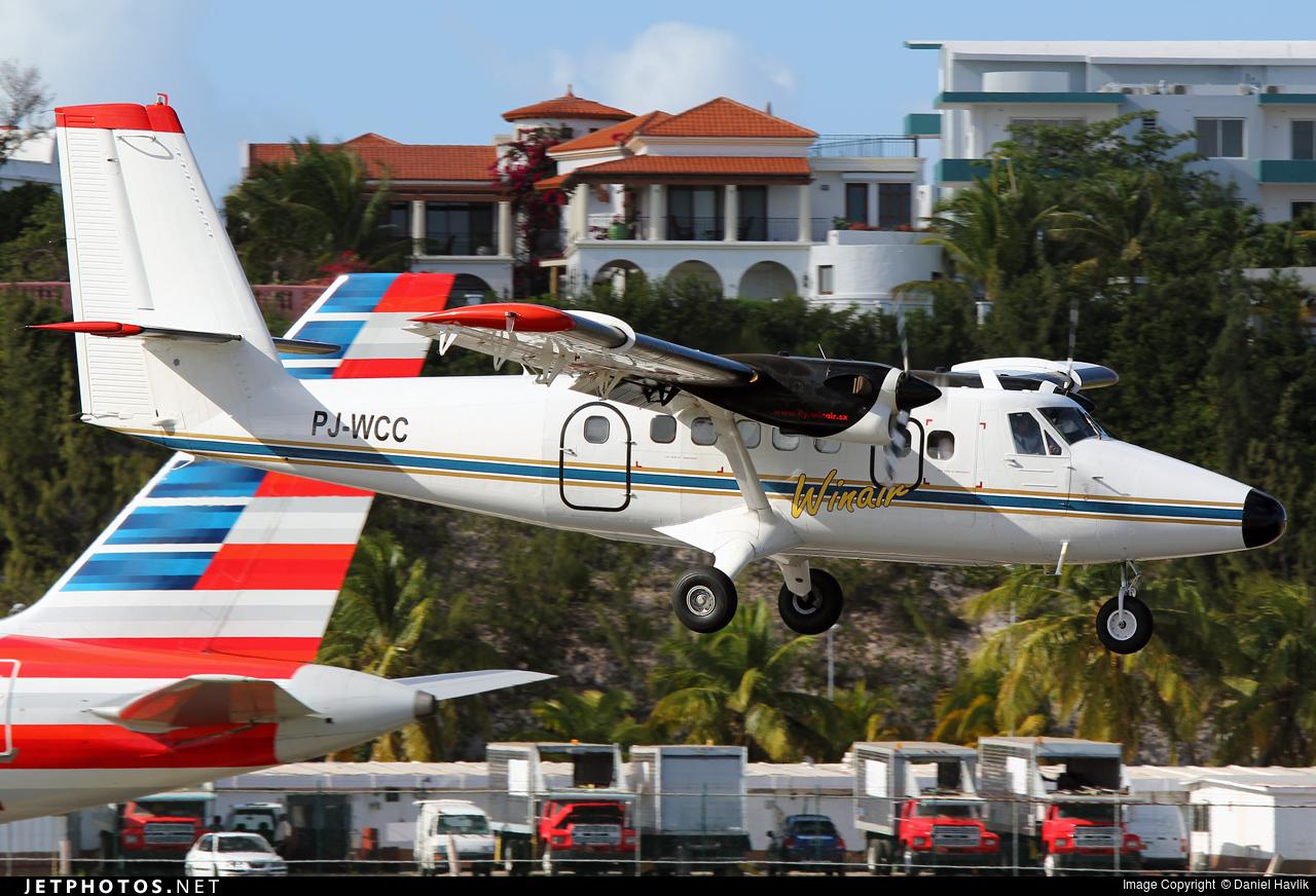 PJ-WCC - De Havilland Canada DHC-6-300 Twin Otter - Winair - Windward Islands Airways