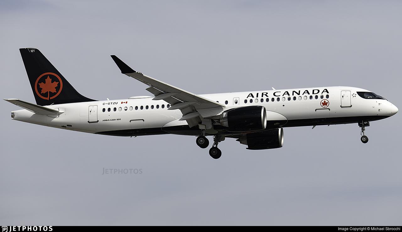 C-GTZU - Airbus A220-371 - Air Canada