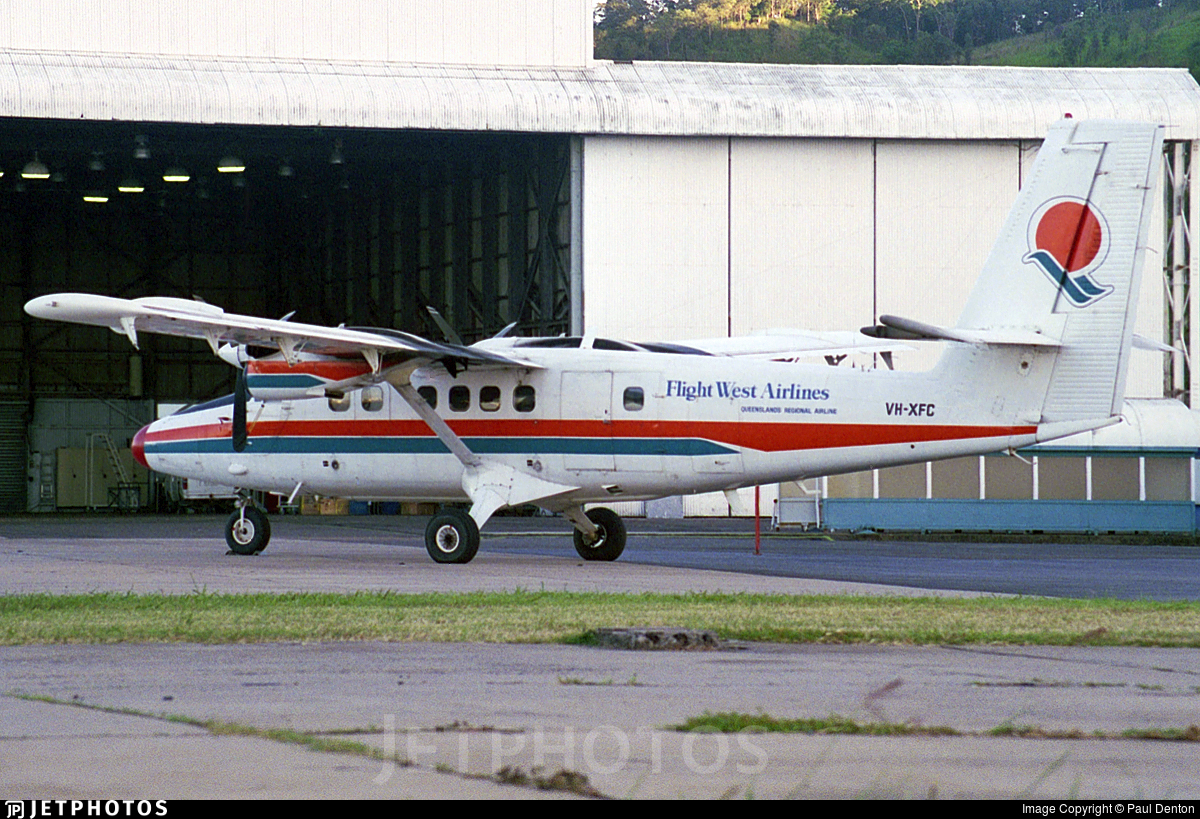 VH-XFC - De Havilland Canada DHC-6-300 Twin Otter - Flight West Airlines