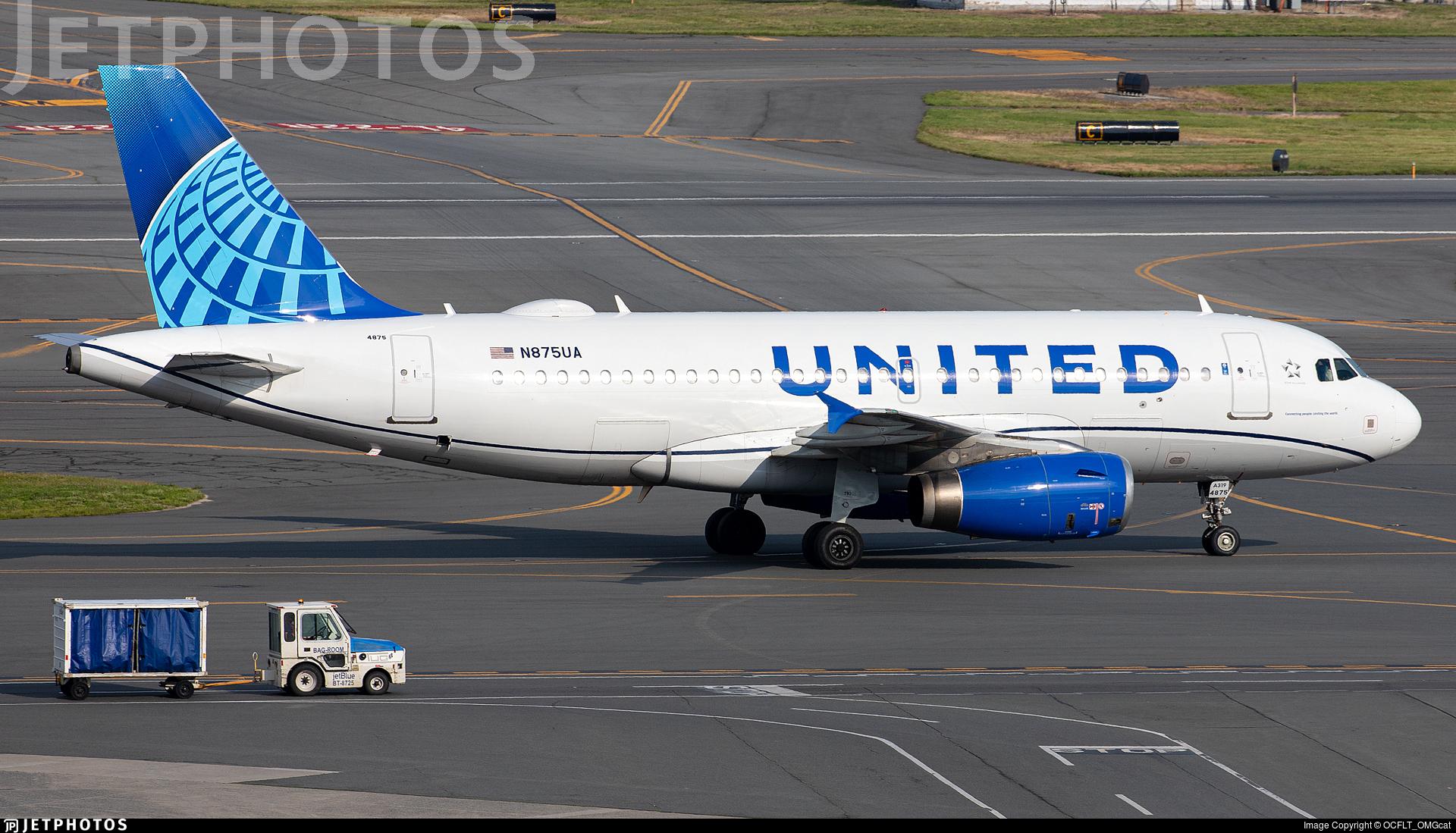 N875UA - Airbus A319-132 - United Airlines