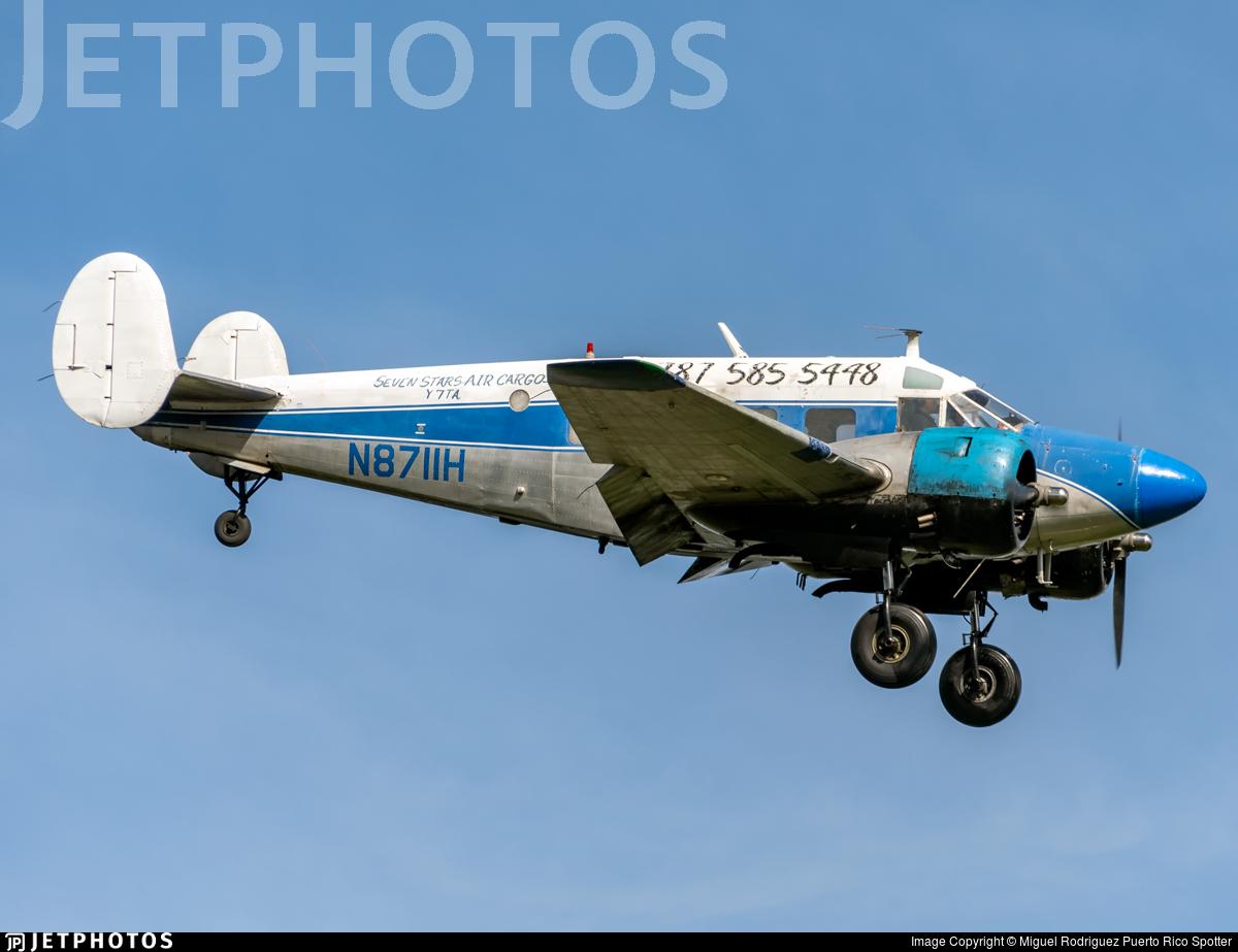 N8711H - Beech E18S - Seven Stars Air Cargo