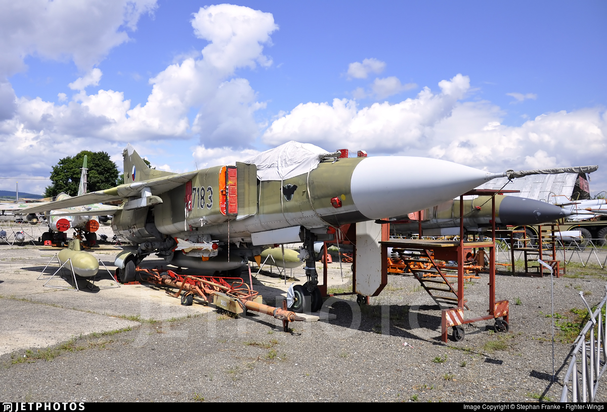7183 - Mikoyan-Gurevich MiG-23MF Flogger B - Czech Republic - Air Force