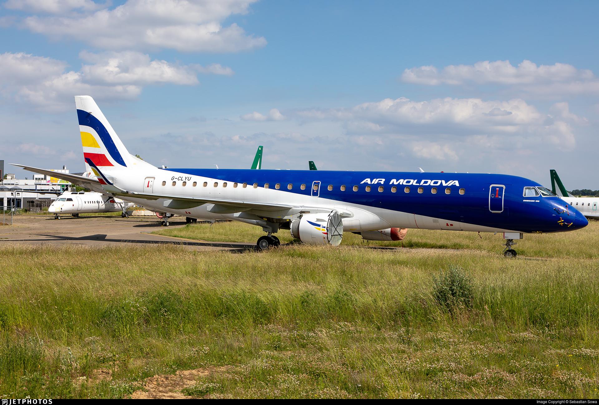 G-CLYU - Embraer 190-100LR - Air Moldova
