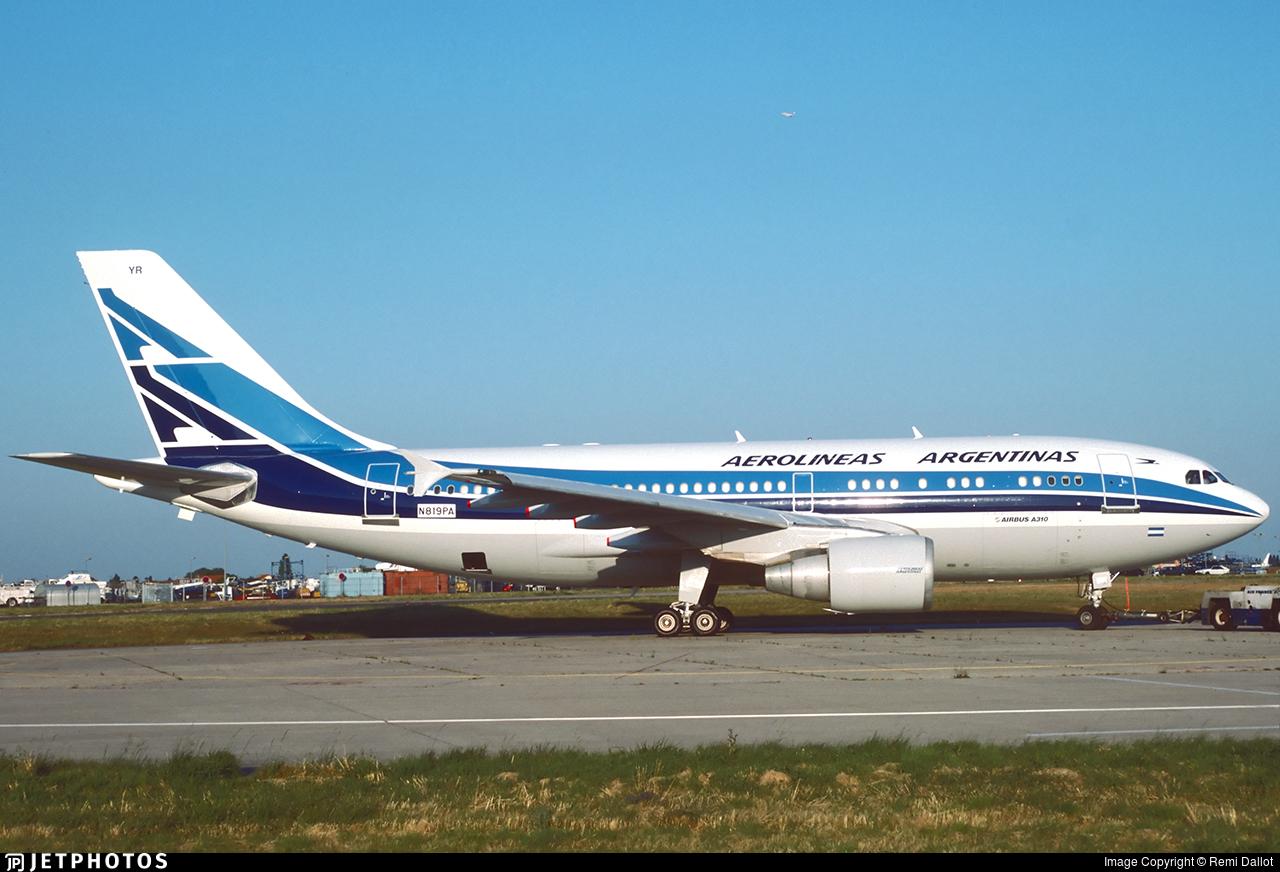 N819PA - Airbus A310-324 - Aerolíneas Argentinas