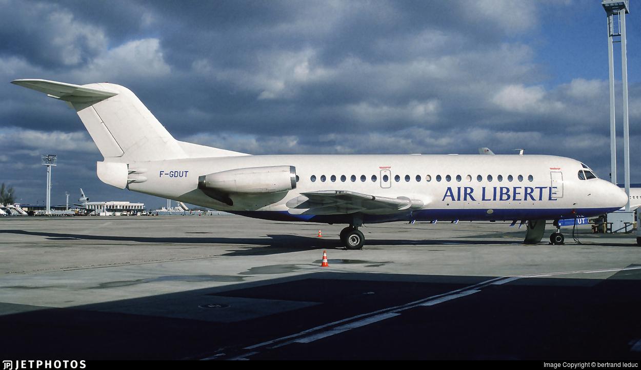 F-GDUT - Fokker F28-2000 Fellowship - Air Liberté