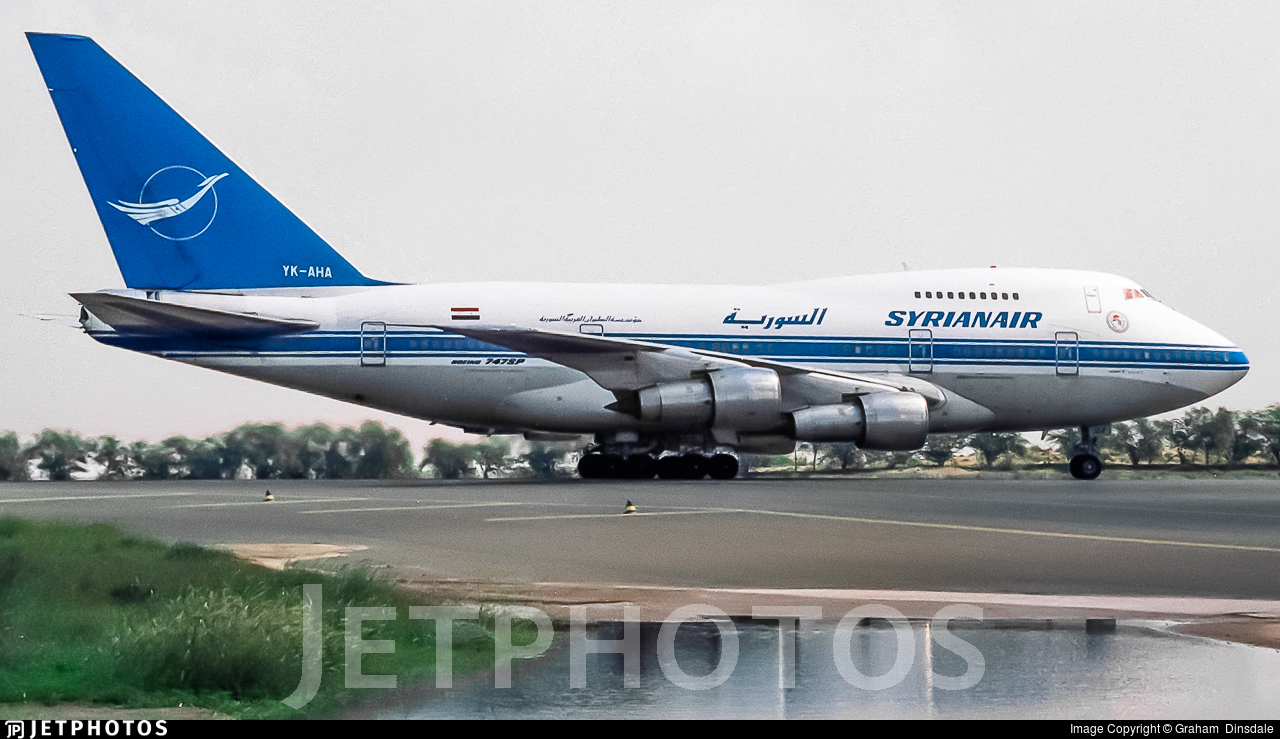 YK-AHA - Boeing 747SP-94 - Syrianair - Syrian Arab Airlines