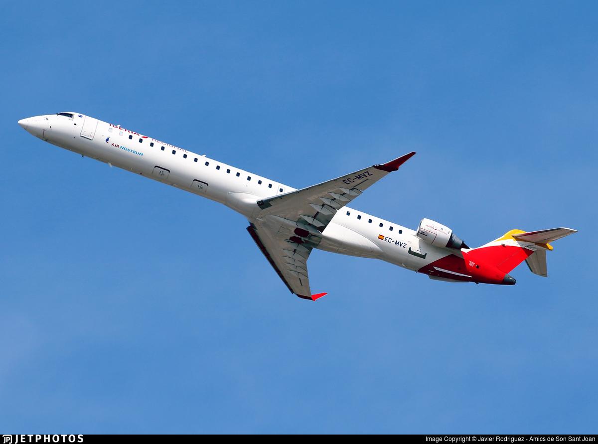EC-MVZ - Bombardier CRJ-1000 - Iberia Regional (Air Nostrum)