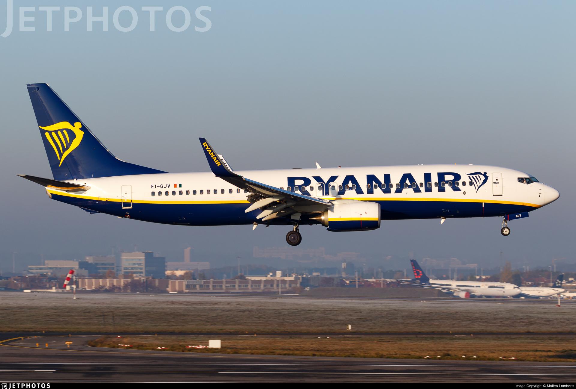 EI-GJV - Boeing 737-8AS - Ryanair