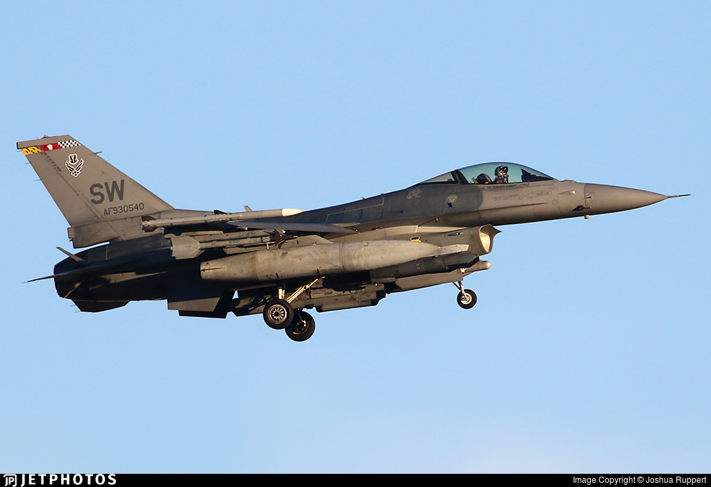 93-0540 - Lockheed Martin F-16CJ Fighting Falcon - United States - US Air Force (USAF)