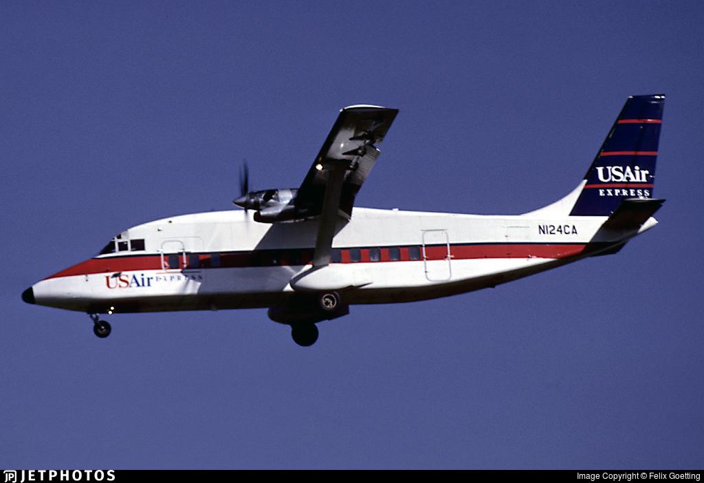 N124CA - Short 360-100 - USAir Express (Pennsylvania Airlines)