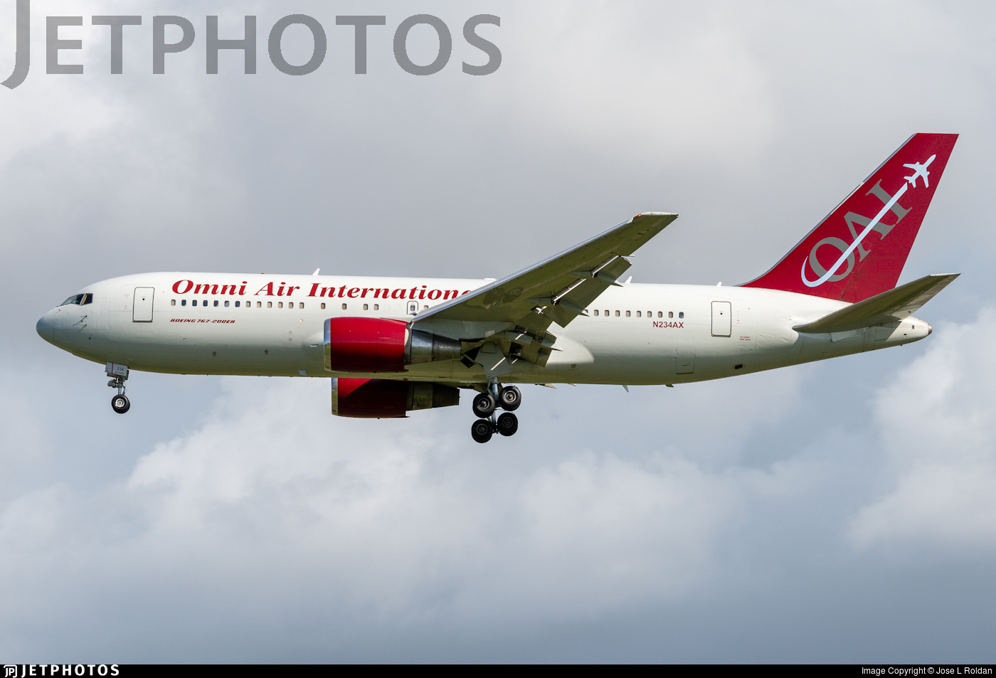 N234AX - Boeing 767-224(ER) - Omni Air International (OAI)