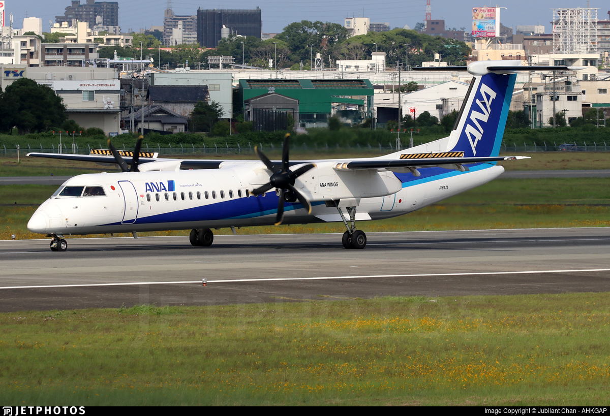 JA847A - Bombardier Dash 8-Q402 - ANA Wings