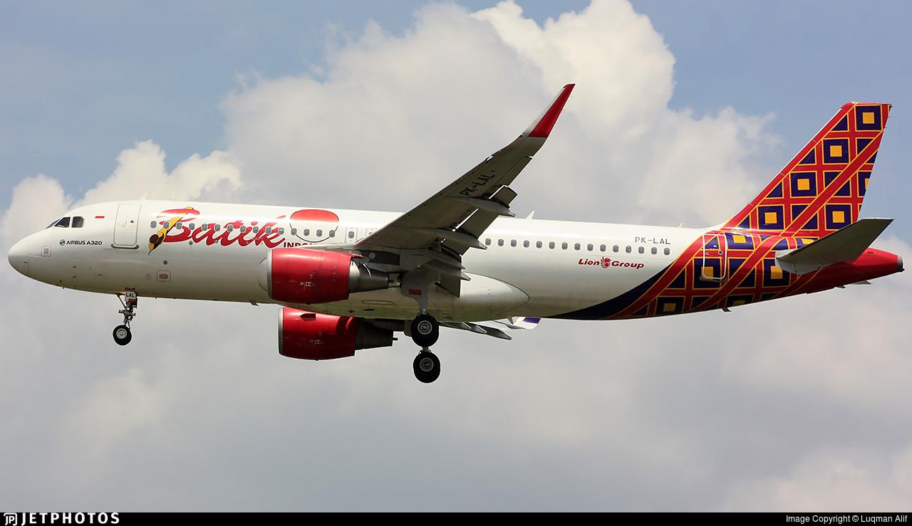 PK-LAL - Airbus A320-214 - Batik Air