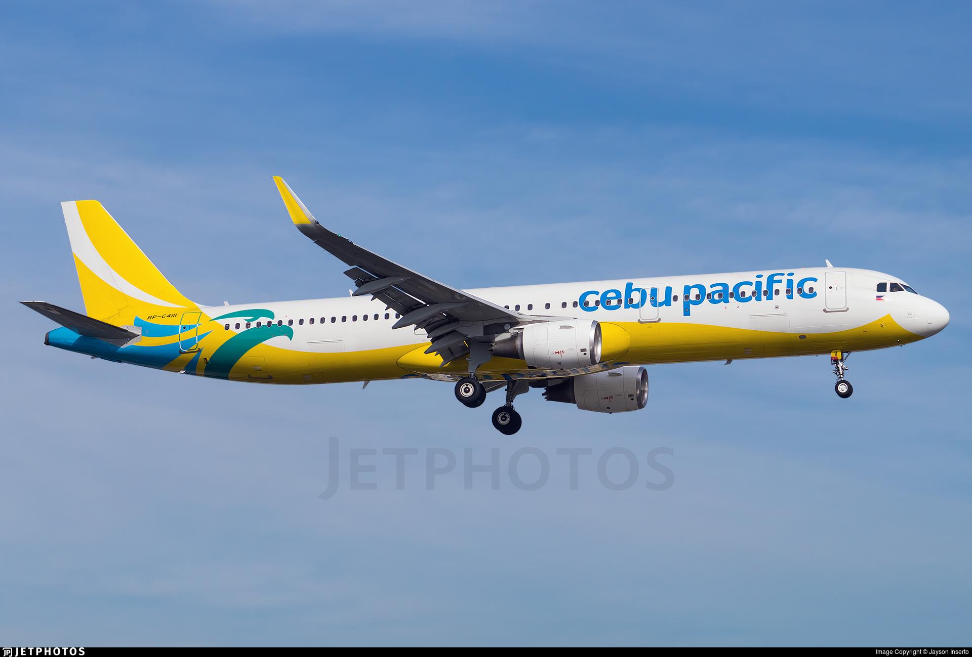 RP-C4111 - Airbus A321-211 - Cebu Pacific Air