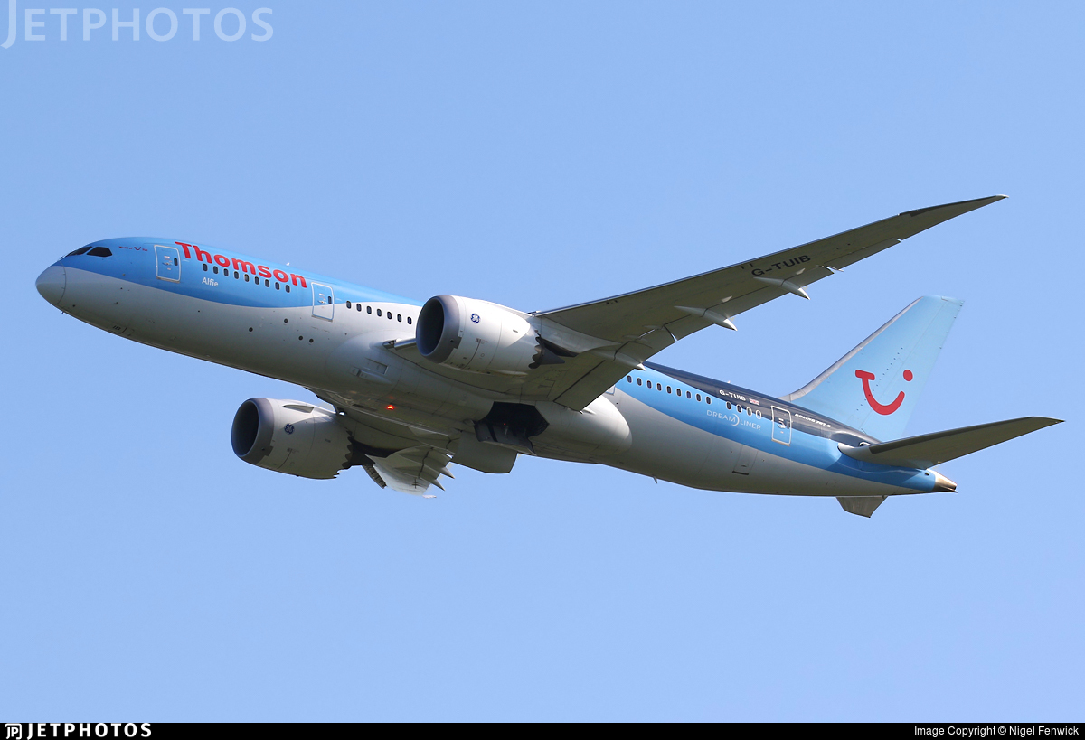 G-TUIB | Boeing 787-8 Dreamliner | Thomson Airways | Nigel Fenwick ...