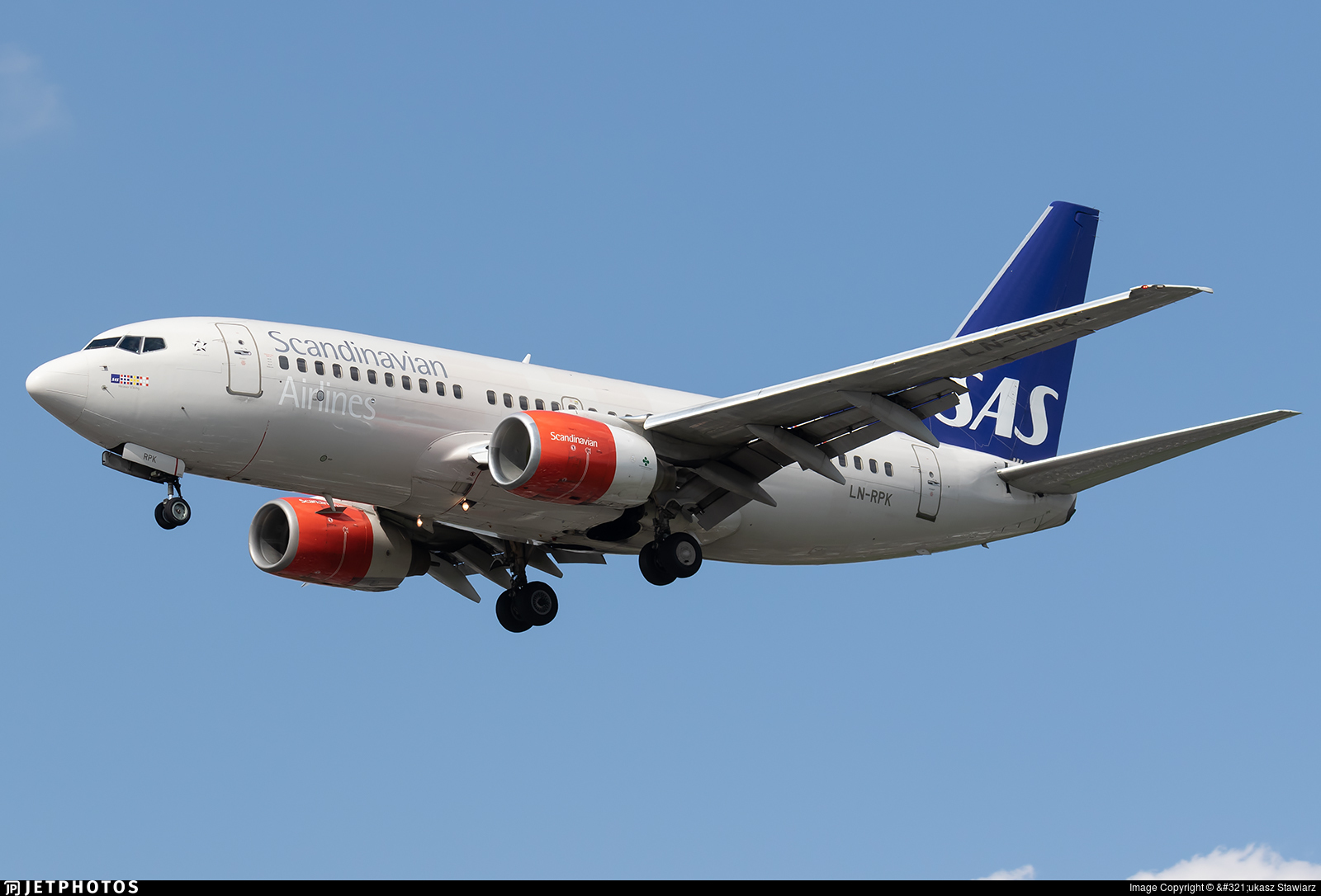 LN-RPK - Boeing 737-783 - Scandinavian Airlines (SAS)