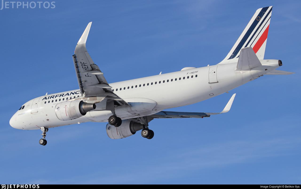 F-HEPF - Airbus A320-214 - Air France