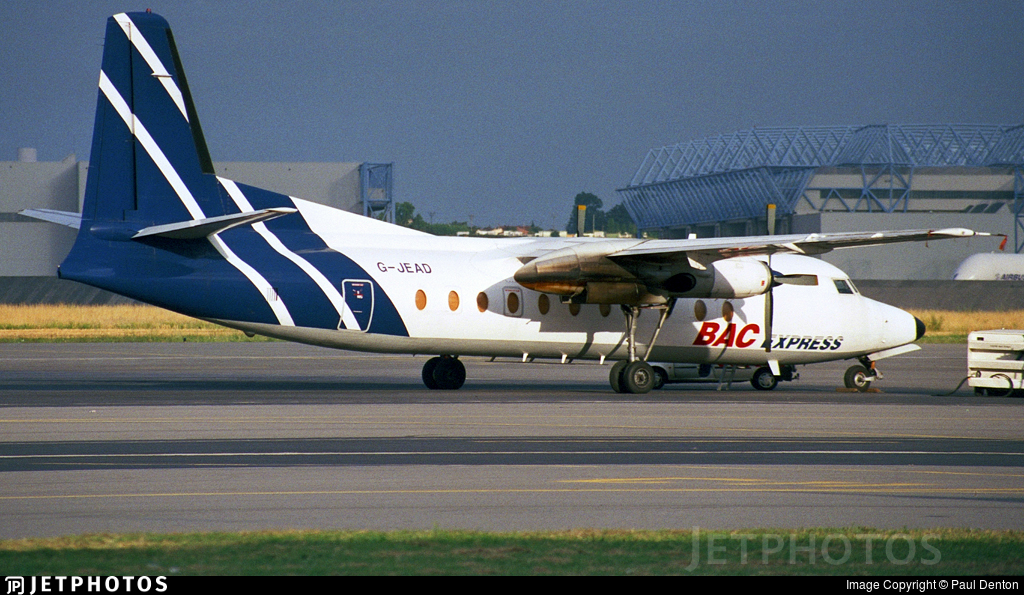 G-JEAD - Fokker F27-500F Friendship - BAC Express Airlines