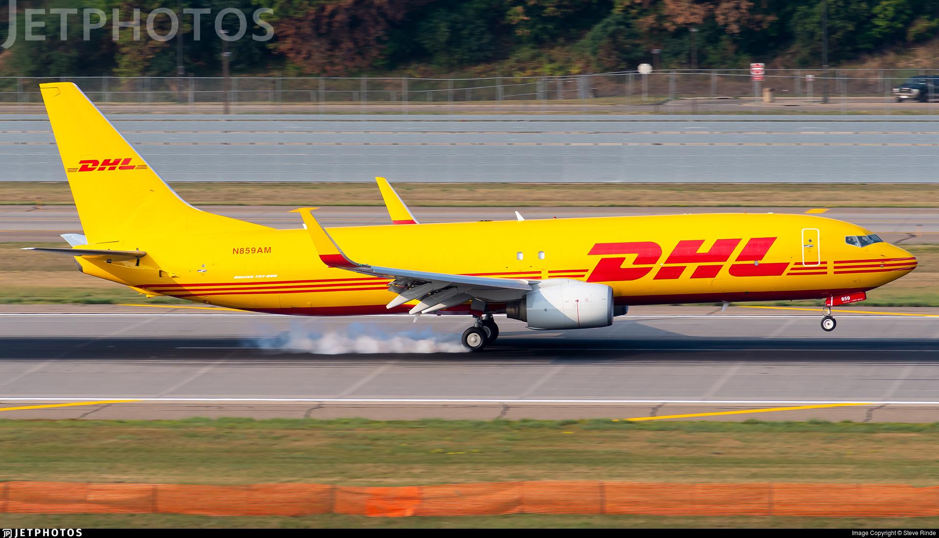 N859AM - Boeing 737-8Q8 - DHL (iAero Airways)