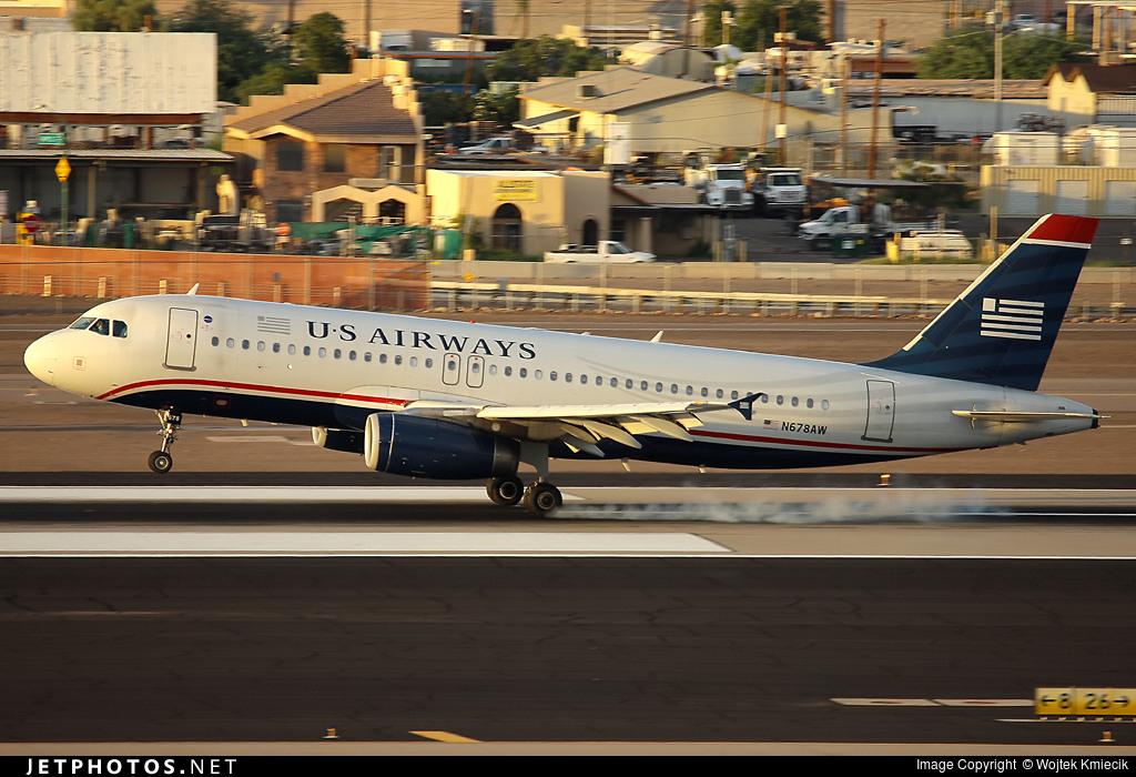 N678AW - Airbus A320-232 - US Airways