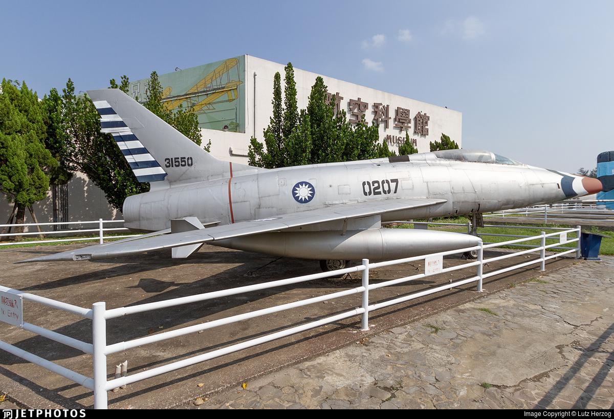 0207 - North American YF-100A Super Sabre - Taiwan - Air Force