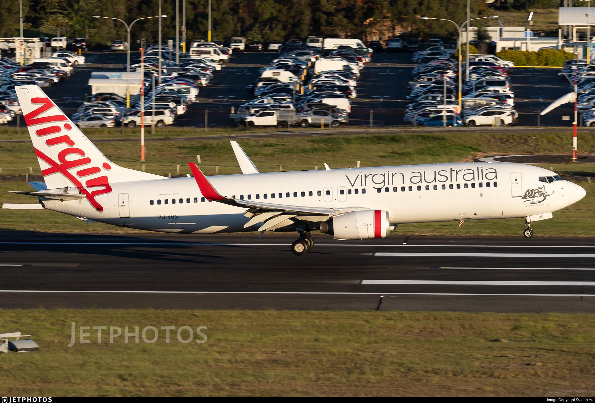 VH-VON - Boeing 737-8FE - Virgin Australia Airlines