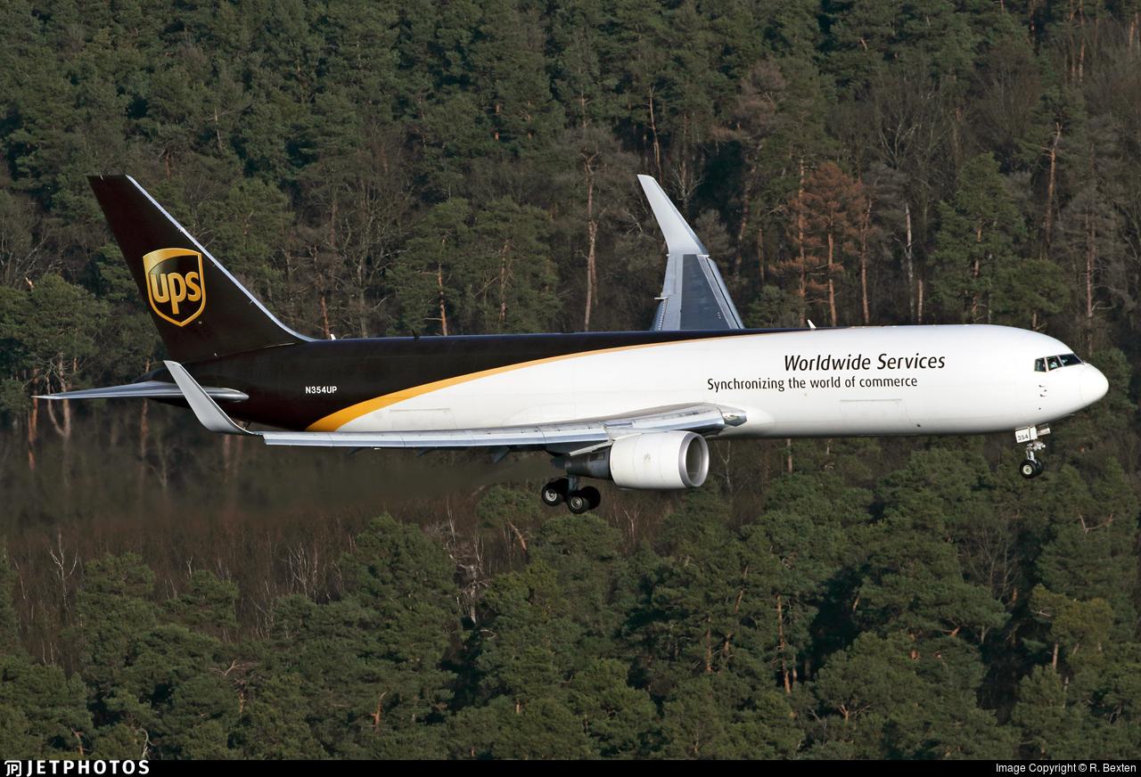 N354UP - Boeing 767-34AF(ER) - United Parcel Service (UPS)