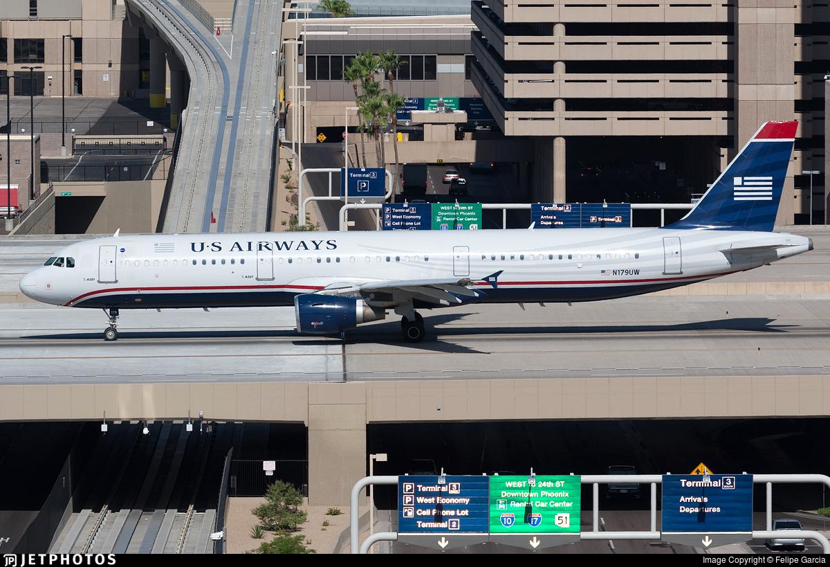 N179UW - Airbus A321-211 - US Airways