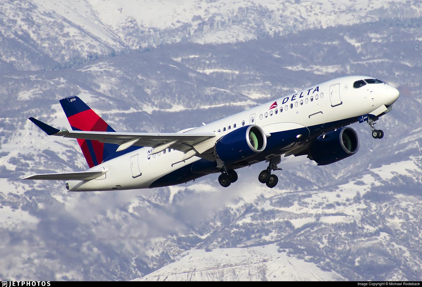 N114DU - Bombardier CSeries CS100  - Delta Air Lines