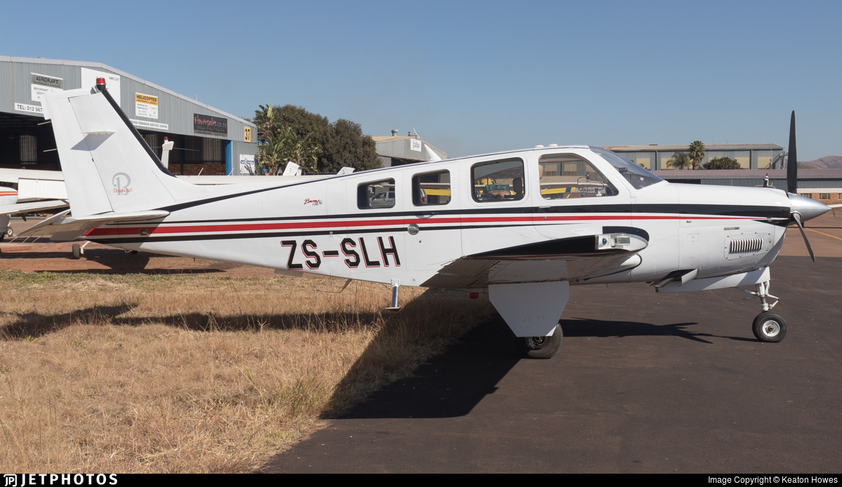ZS-SLH - Beechcraft A36 Bonanza - Private
