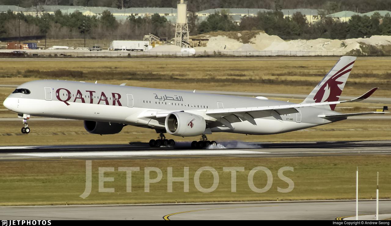 A7-AND - Airbus A350-1041 - Qatar Airways