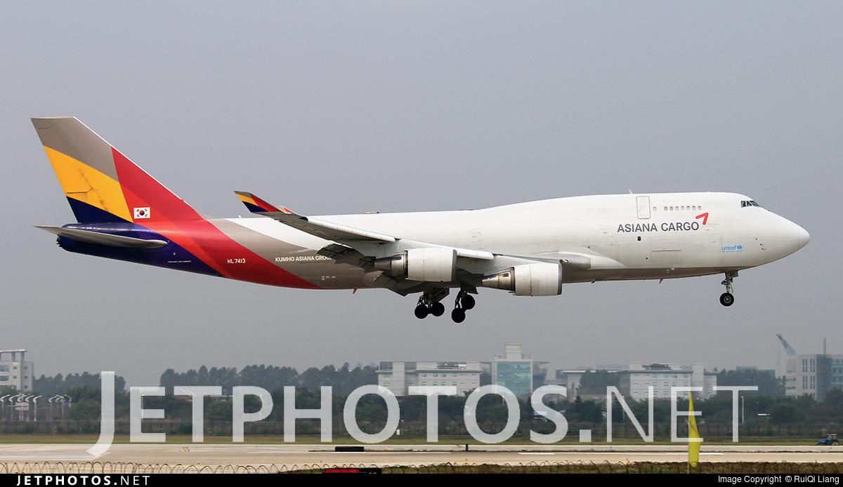 HL7413 | Boeing 747-48E(BDSF) | Asiana Cargo | RuiQi Liang ...