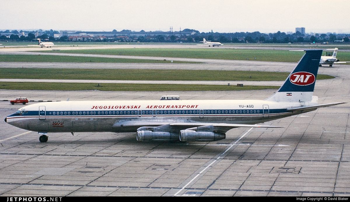 YU-AGD - Boeing 707-340C - JAT Yugoslav Airlines