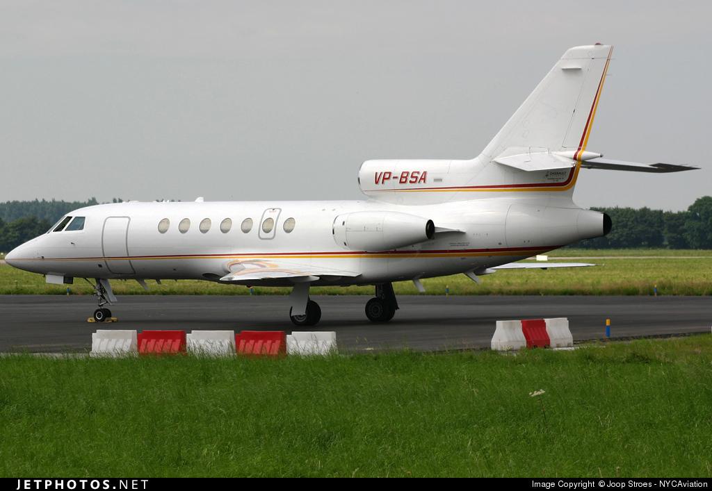 VP-BSA - Dassault Falcon 50 - Shell Aviation