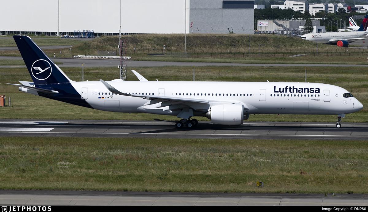 F-WZHG - Airbus A350-941 - Lufthansa