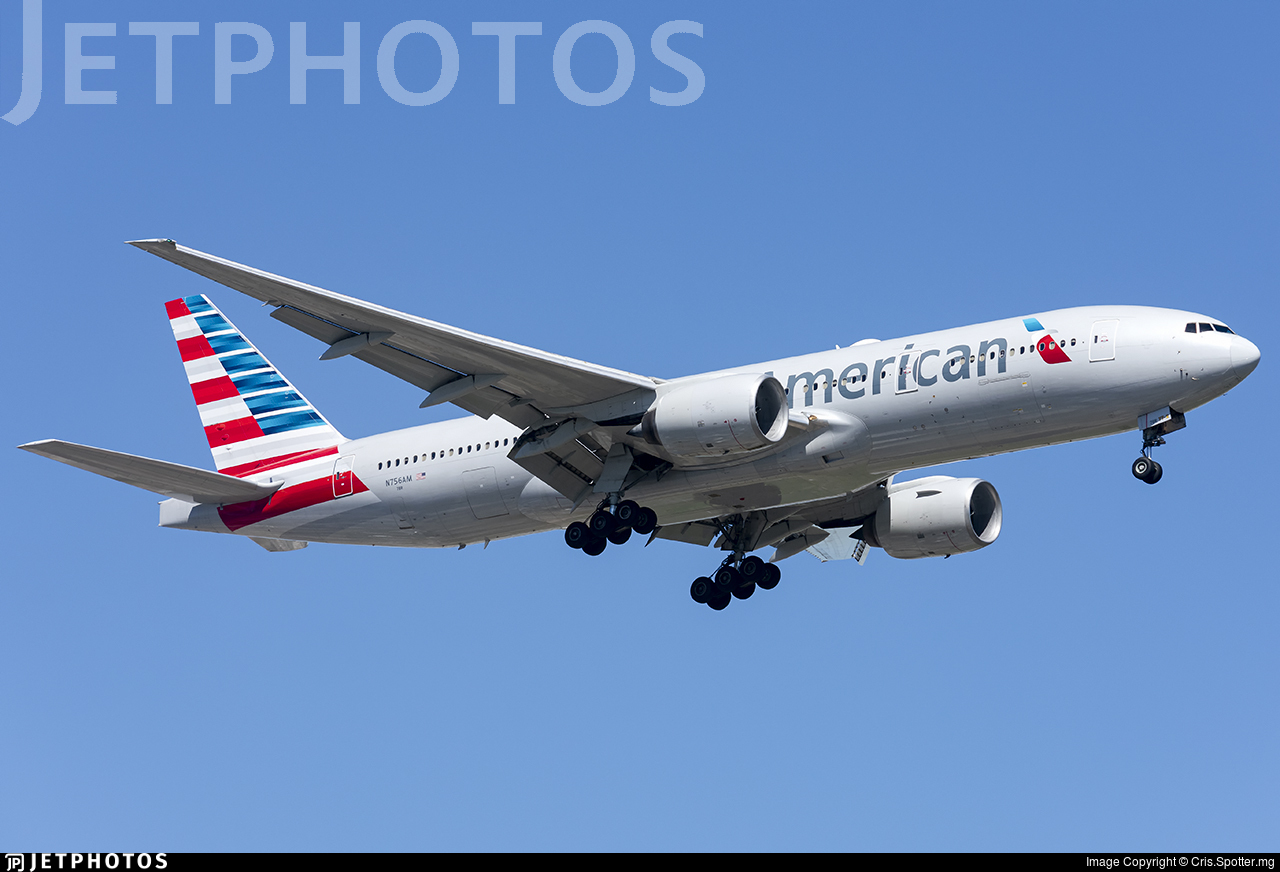 N756AM - Boeing 777-223(ER) - American Airlines