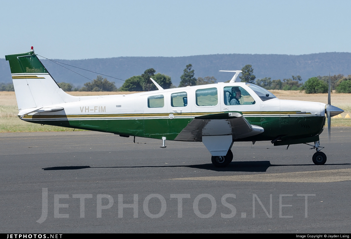 VH-FIM - Beechcraft A36 Bonanza - Private