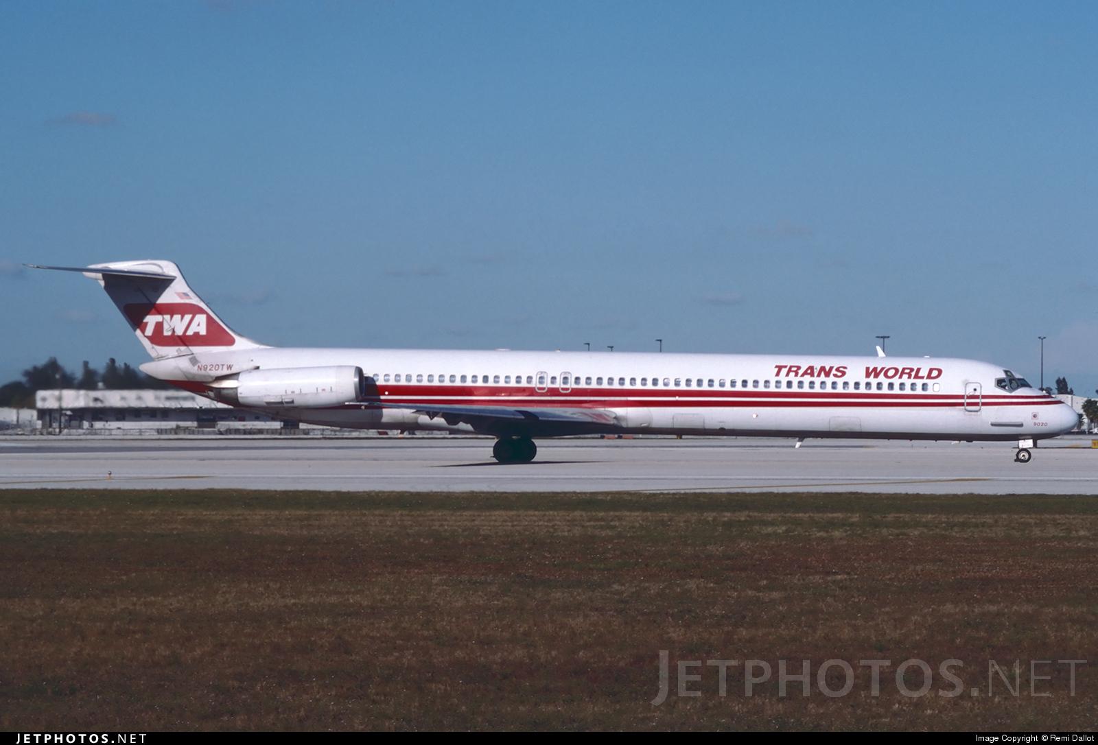 N920TW - McDonnell Douglas MD-82 - Trans World Airlines (TWA)