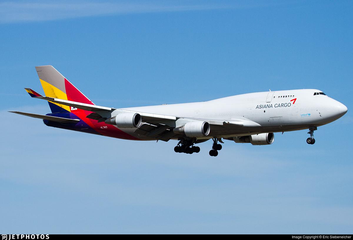 HL7413 | Boeing 747-48E(BDSF) | Asiana Cargo | Eric ...