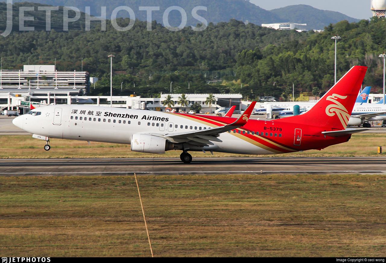 B-5379 - Boeing 737-8AL - Shenzhen Airlines