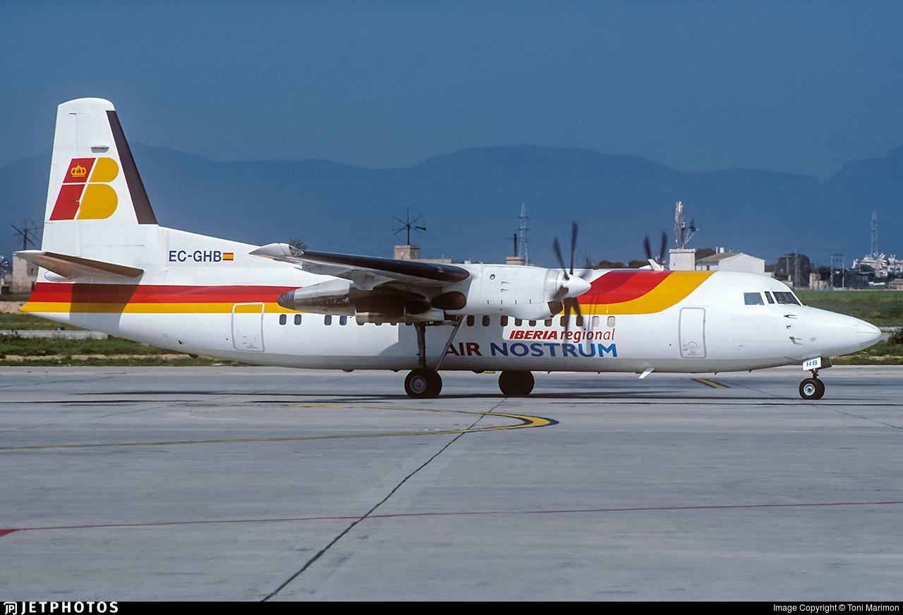 EC-GHB - Fokker 50 - Iberia Regional (Air Nostrum)