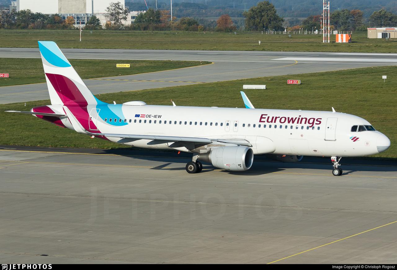 OE-IEW - Airbus A320-214 - Eurowings Europe