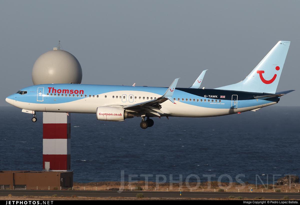 G-TAWK - Boeing 737-8K5 - Thomson Airways