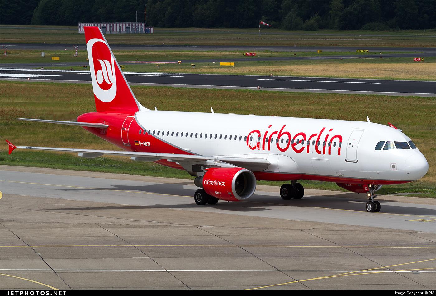 D-ABZI - Airbus A320-216 - Air Berlin