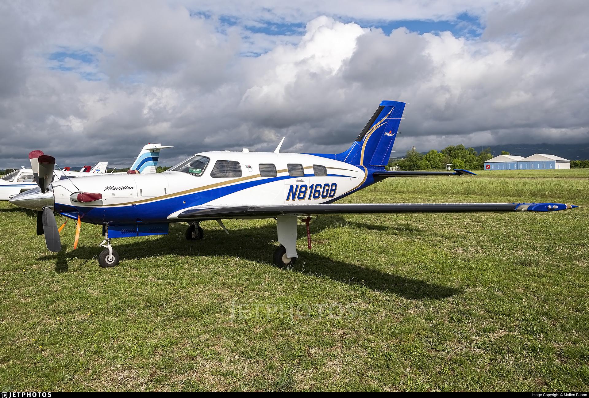 N816GB - Piper PA-46-500TP Malibu Meridian - Private