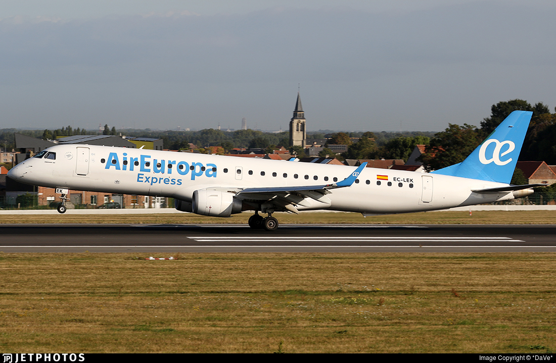 EC-LEK - Embraer 190-200LR - Air Europa Express